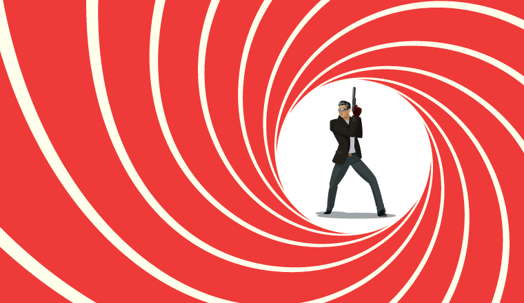 A picture of a secret agent