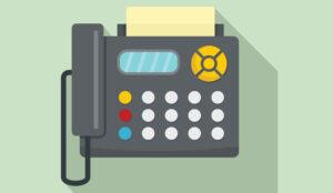 A picture of a fax machine