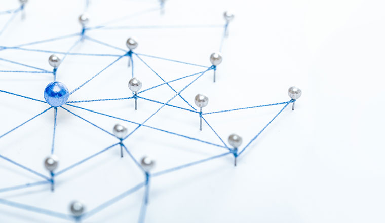 A picture of networking pins