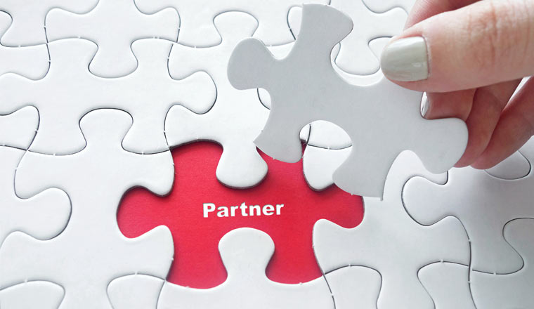 A picture of the word Partner on jigsaw puzzle