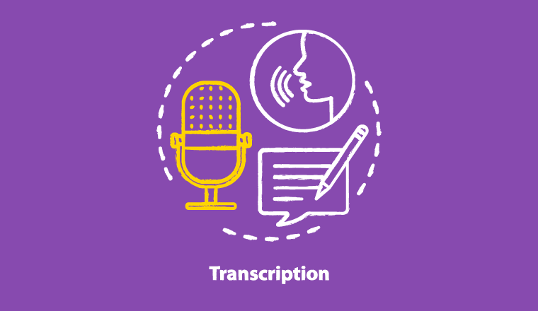 A picture of a the transcription process