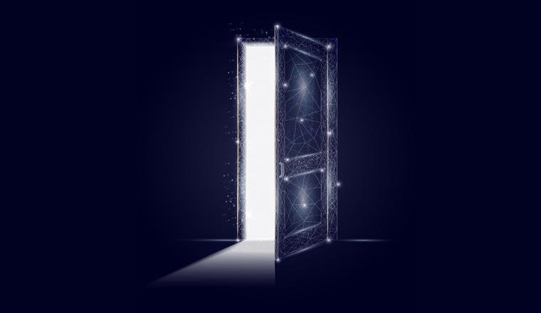 A picture of a digital door