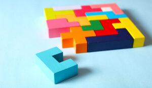 A picture of tetris blocks