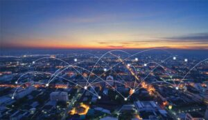 A picture of communication network over city