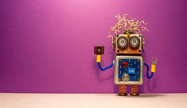 A photo of a robot