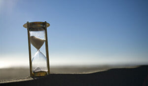 A photo of a sand timer