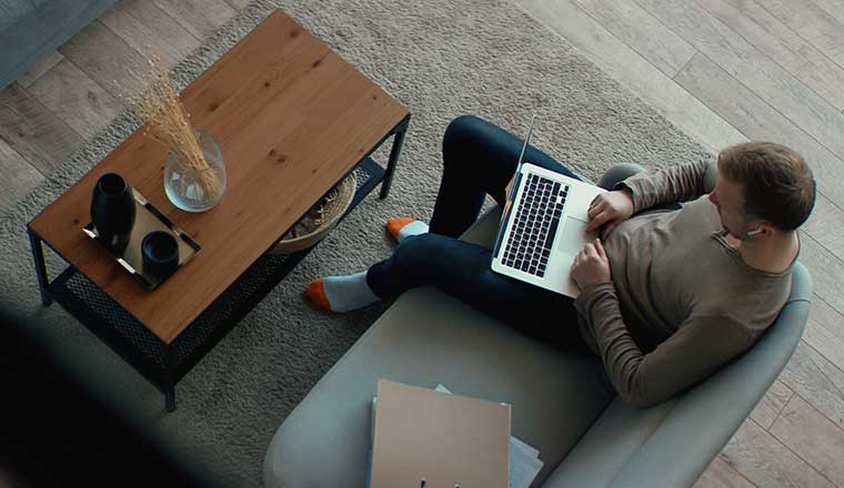 A photo of a remote worker