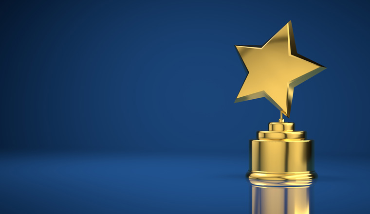 A picture of a star trophy