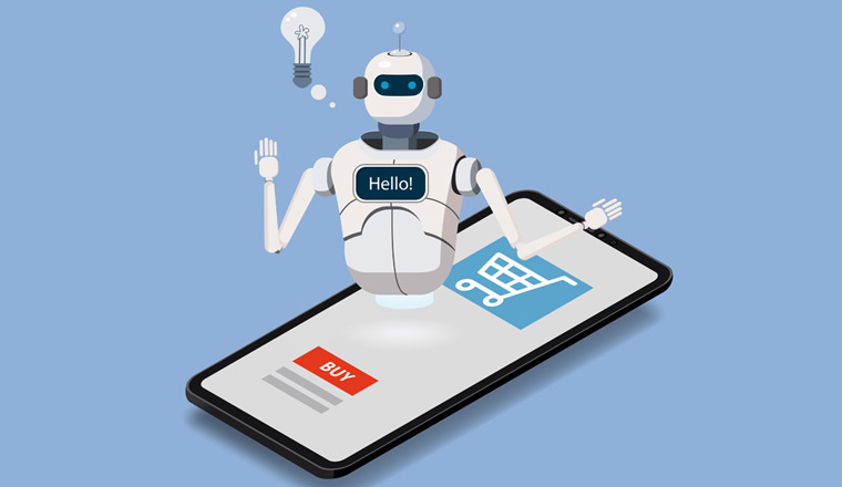 A picture of an ecommerce chatbot