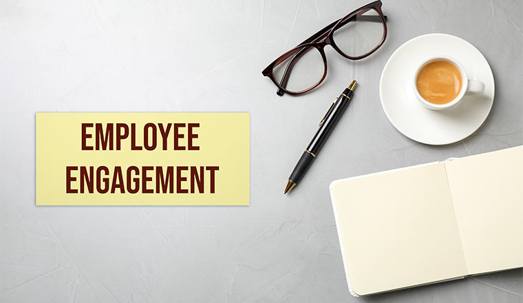 A photo of an employee engagement note