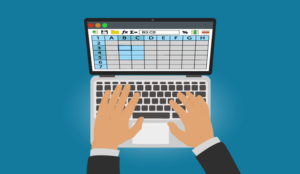 A picture of a spreadsheet