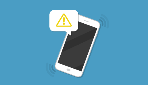 A picture of a phone alert
