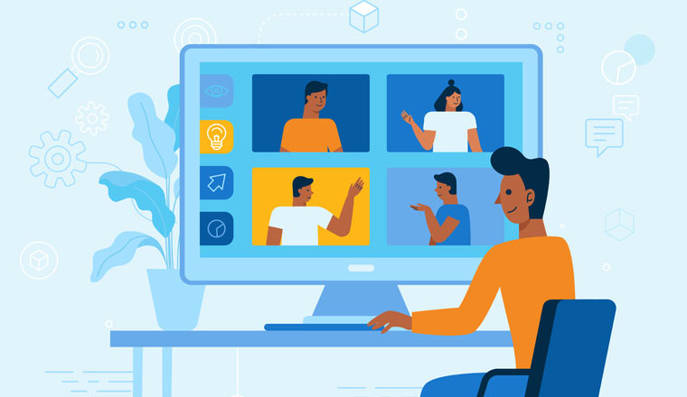 A picture of an online meeting