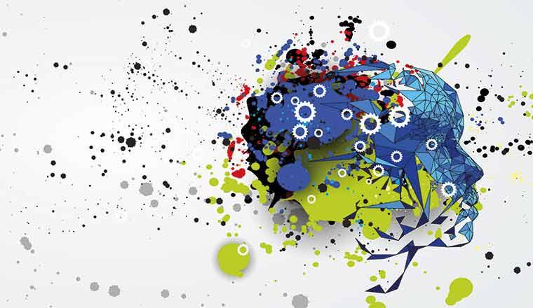 A picture of a colourful AI design
