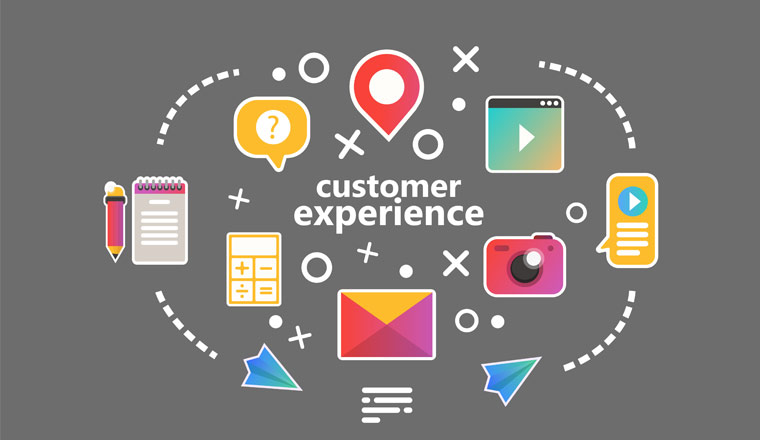 A picture of a customer experience infographic