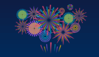 A picture of fireworks