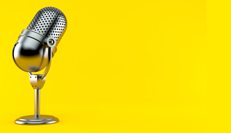 A picture of a microphone
