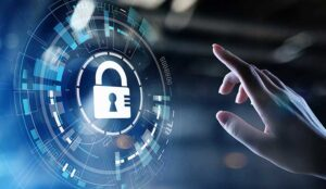 An image of a digital padlock