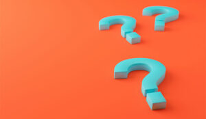 A picture of three question marks