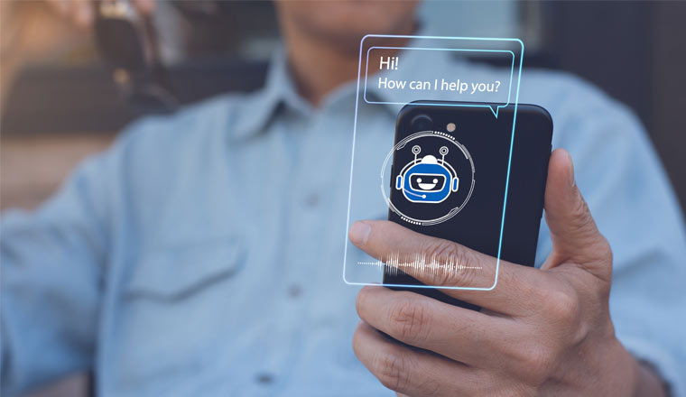 A picture of an ai chatbot on a mobile phone