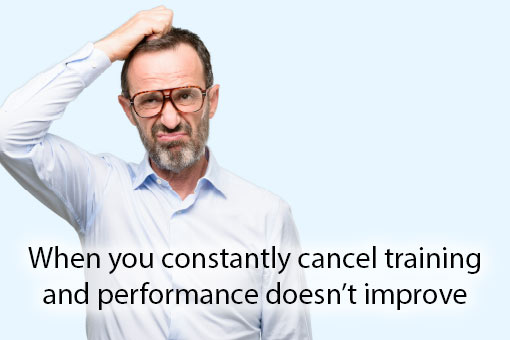 call centre meme about training and performance