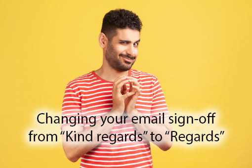 call centre meme about email signatures