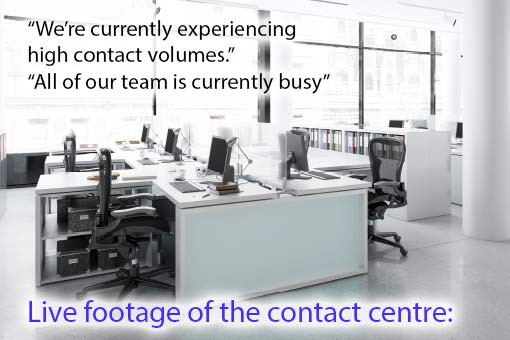 call centre meme about a call centre being busy