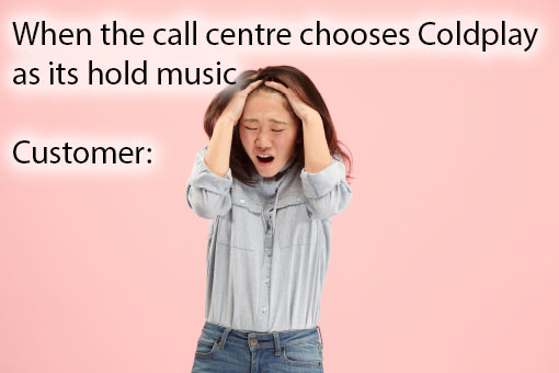 call centre meme about hold music