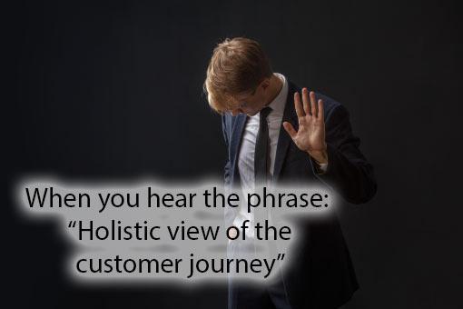 call centre meme about management speak