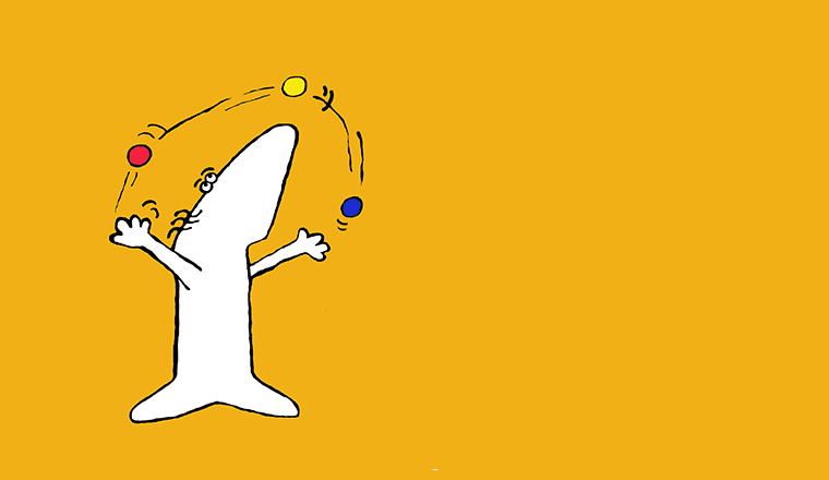 A picture of a juggling seal