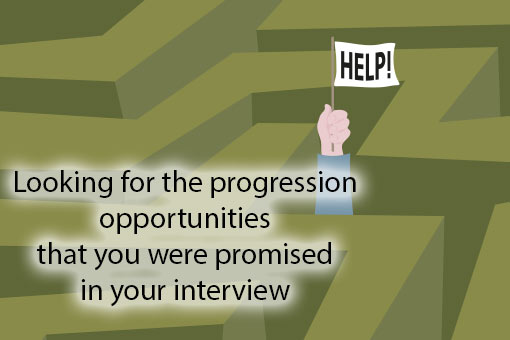 call centre meme about career progression and employee experience
