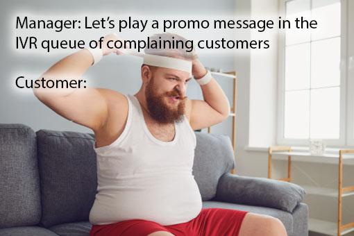 call centre meme about ivr messages