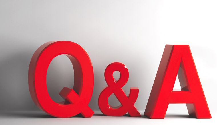 A picture if the letter Q and A
