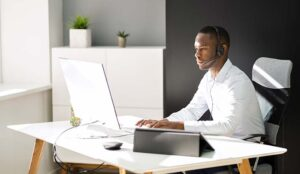 Remote Worker Looking at Screen