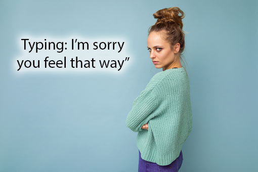 call centre meme about apologies