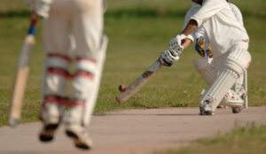 A picture of two cricket batters