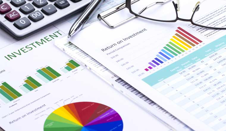 A picture showing investment analysis
