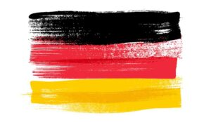 Germany colorful brush strokes painted flag