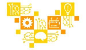 Yellow Orange Squares Symbols Circuit Elements