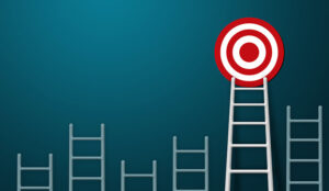 Longest white ladder and aiming high to goal target