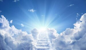 Stairway in clouds
