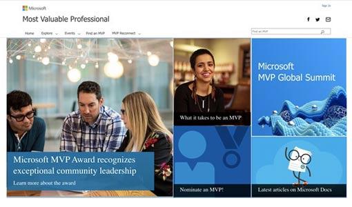 A screenshot of the Microsoft community page