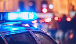 Police light on car
