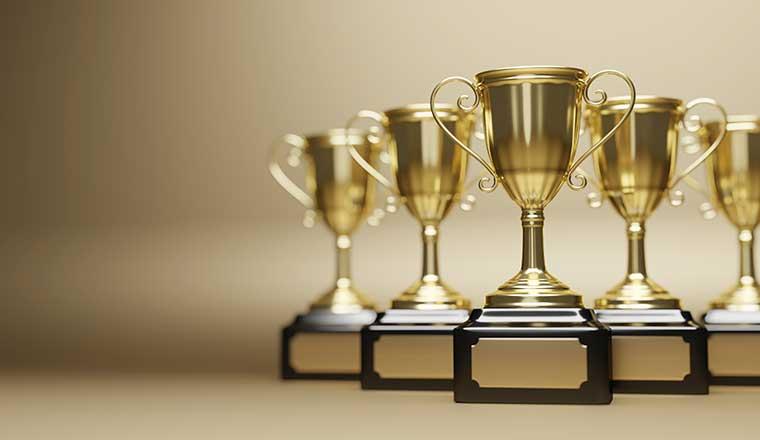 Golden trophy awards