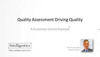 Tom Van der Well webinar slides on Quality Assessment Driving Quality