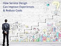 Amy Scott slides on How service design can improve experiences and reduce costs