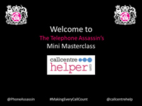Webinar Slides from 'The Telephone Assassin' on a mini masterclass