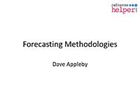 Webinar Slides: Excel Masterclass - Designing a Better Forecasting Spreadsheet by Dave Appleby