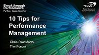 Webinar Slides: Performance Management Tools by Chris Rainsforth