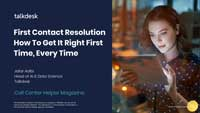 Webinar Slides for Jafar Adibi on First Contact Resolution How to get it right first time, everytime